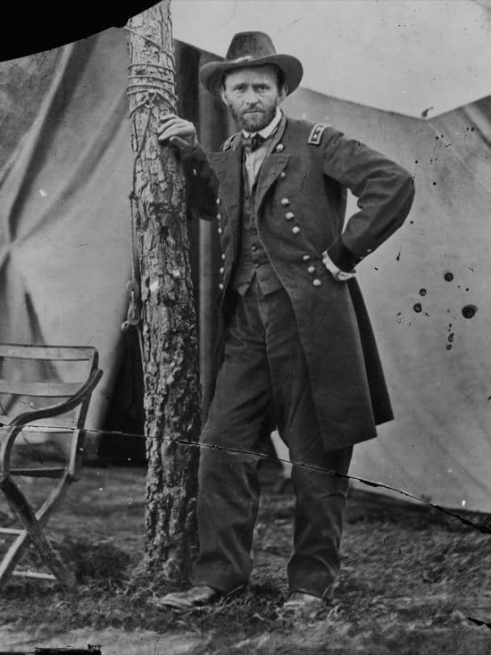 Ulysses S. Grant en el centro de mando en Cold Harbor, 1864
