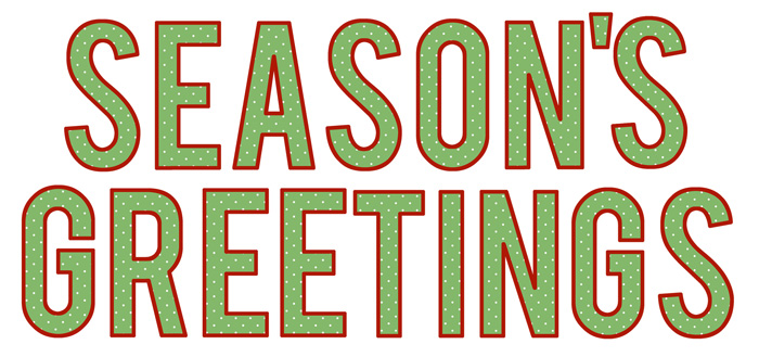 Free Printable Season's Greetings Banner...a perfect little letter banner for your Christmas decor. Instant download.