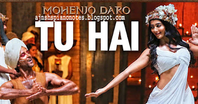 Tu Hai Mera Ye Sansaar | Mohenjo Daro Sargam Piano Notes