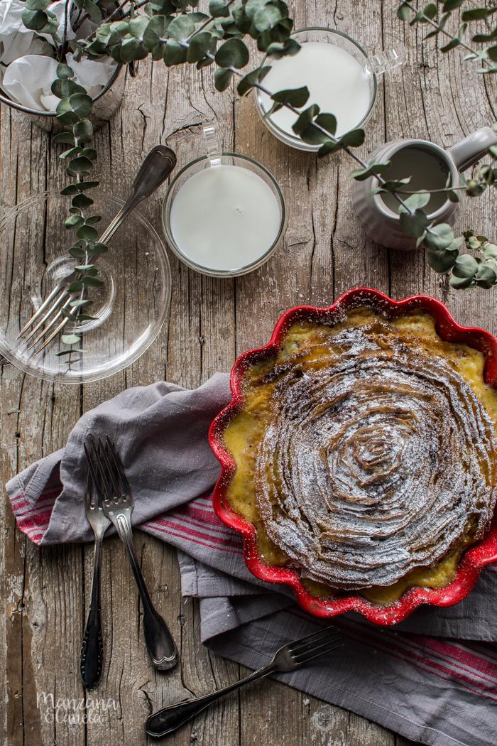 Ruffled Milk Pie: pastel de natillas y pasta filo. Receta muy fácil.