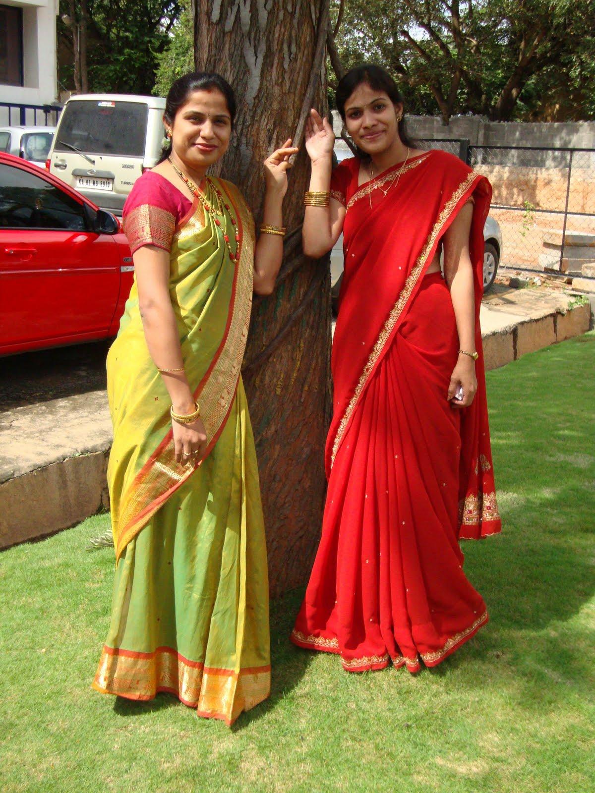 House Wife Beauties  Saree Aunties-1062