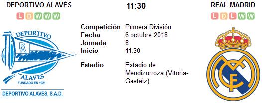 Alavés vs Real Madrid en VIVO