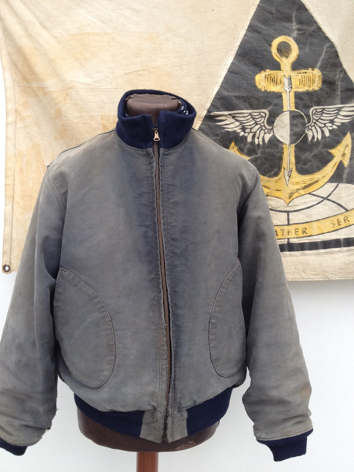 Sanforized 1st Issued Wwii Us Navy Deck Jacket