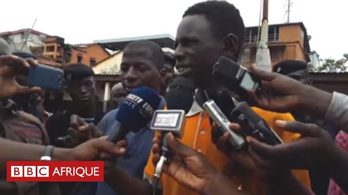 Video: Thief congratulates police for arresting him in Guinea