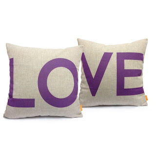 Love purple pillows