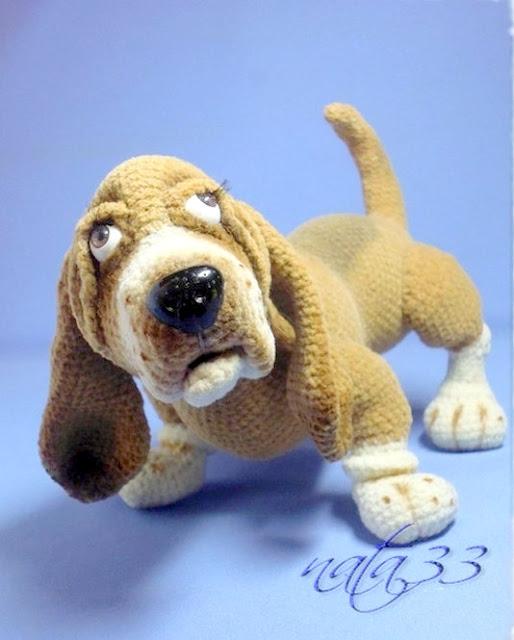 basset hound amigurumi dog crochet pattern