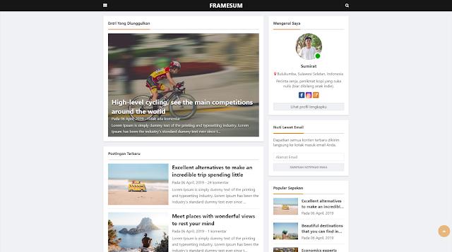 Framesum Responsive Blogger Template