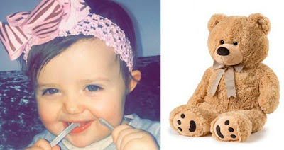 Baby girl suffocated in her sleep after teddy bear fell on her