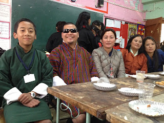 Photo of me with my eldest son Thukten Subba and his teachers
