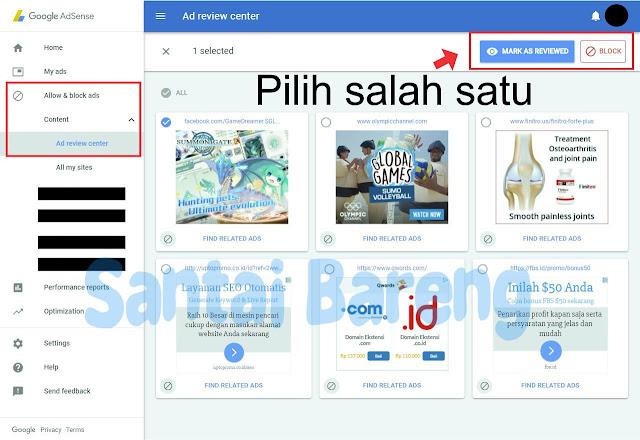 Cara Memblokir Iklan Adsense Yang Sensitif