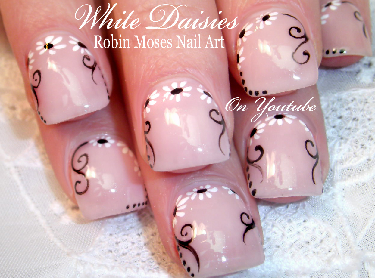 Robin moses nail art elegant white flower nails wedding nails 64 videos play all prinsesfo Image collections