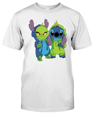 Stitch And Grinch T Shirts Hoodie Sweatshirt Sweater Tank Top