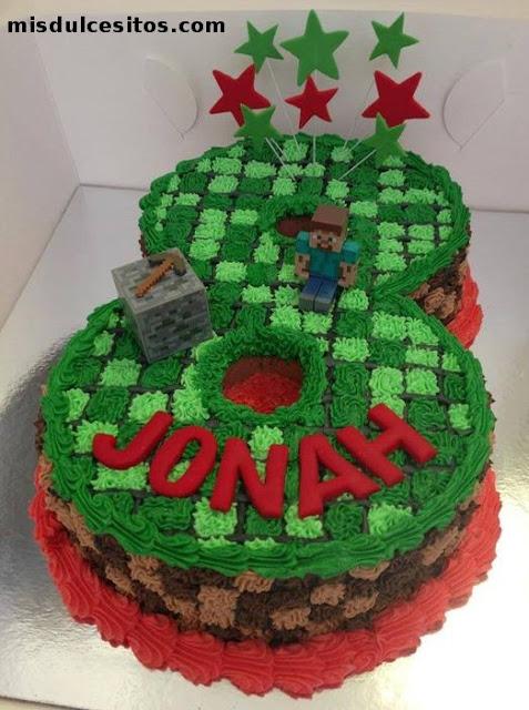 Tortas Minecraft. Venta de tortas temáticas en Lima, Perú.