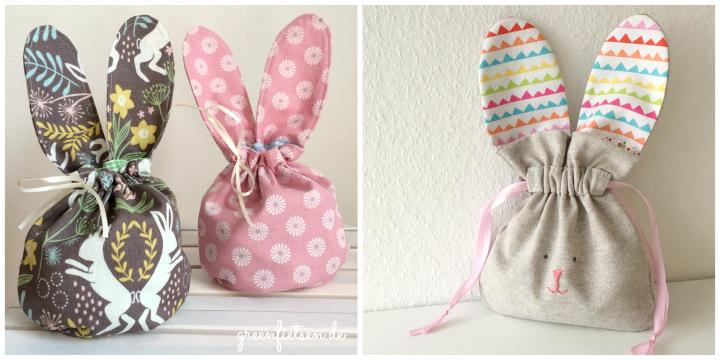 Hasenohrentäschchen & Drawstring Bunny Bag