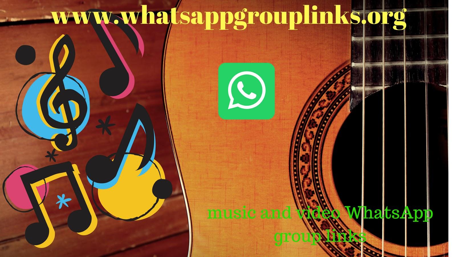 JOIN MUSIC & VIDEO WHATSAPP GROUP LINKS LIST - Whatsapp