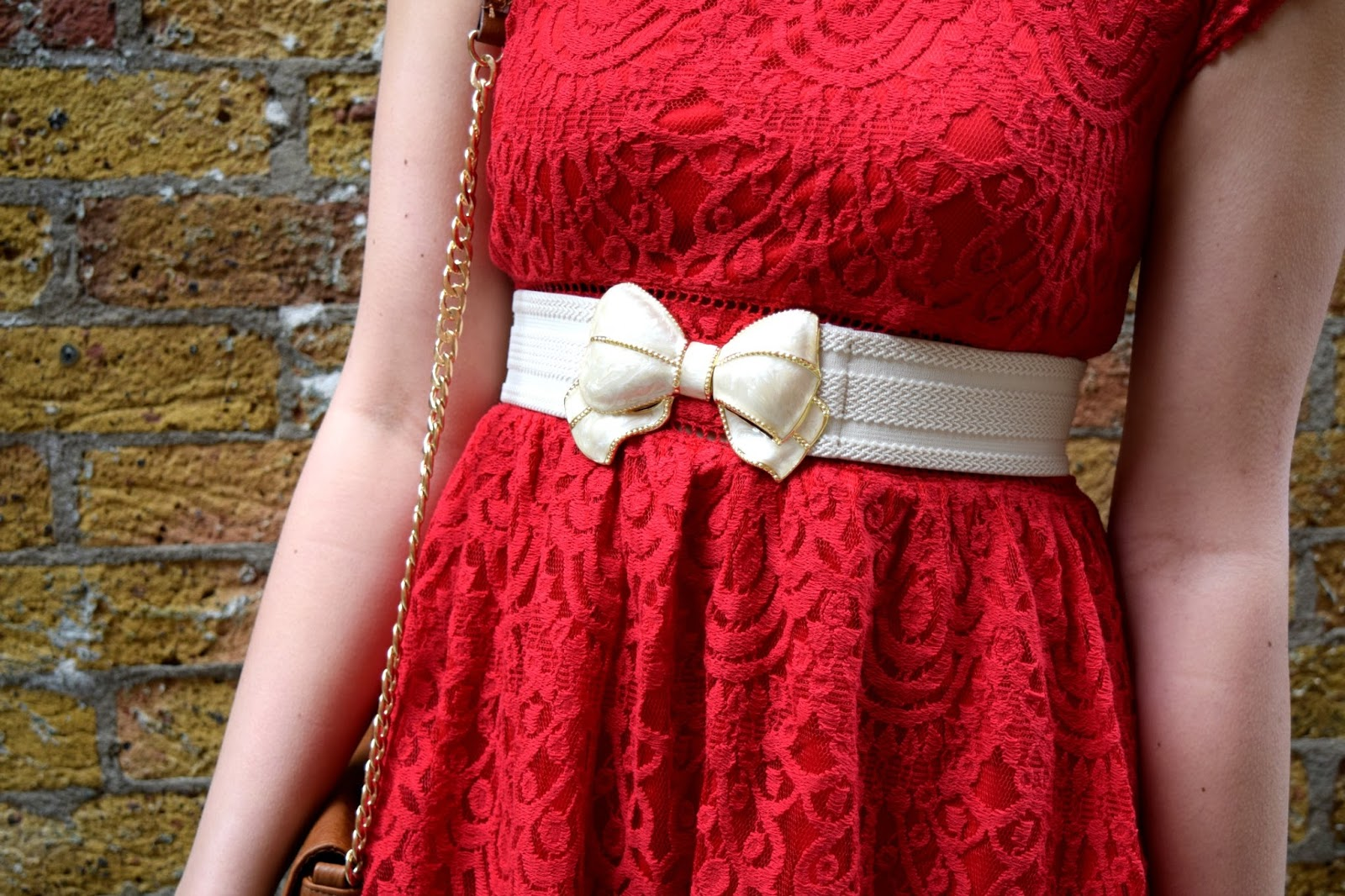 creme coloured bow belt from topshop