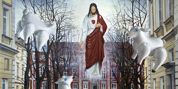 Julia Curyło, esus, The Good Shepherd above the Academy of Fine Arts in Warsaw