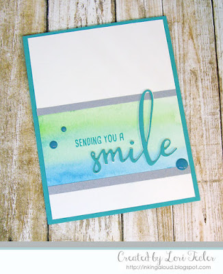Sending You a Smile card-designed by Lori Tecler/Inking Aloud-stamps and dies from Honey Bee Stamps