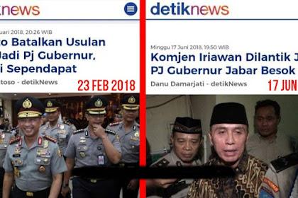 Nah... Jilat Ludah Sendiri, Pemerintah Akan Lantik Komjen Pol Iriawan Sebagai PJ Gubernur Jabar