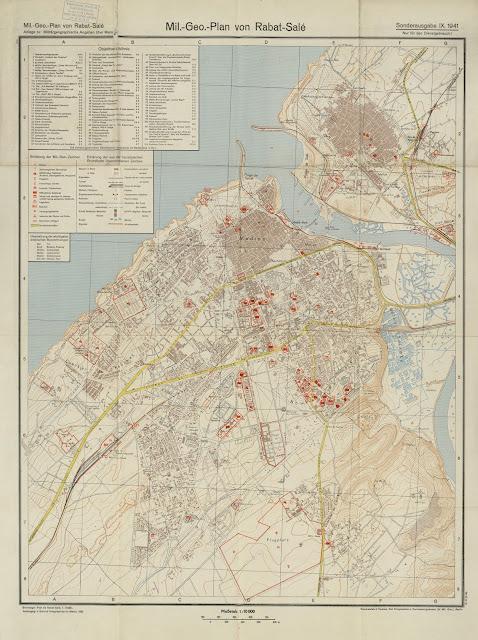 Carte des Médinas de Rabat et Salé