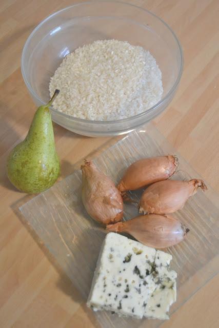 Recette risotto poire/roquefort Végétarien