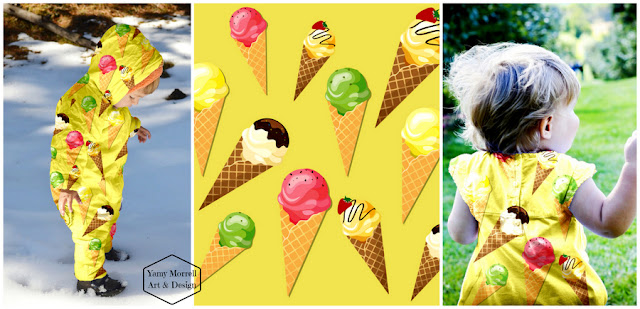 ice cream-cones-yellow-pattern-yamy-morrell