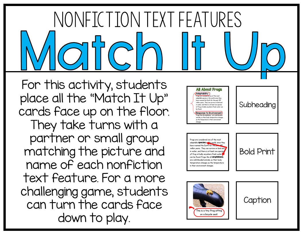 Teaching Nonfiction Text Features Free Download Included
