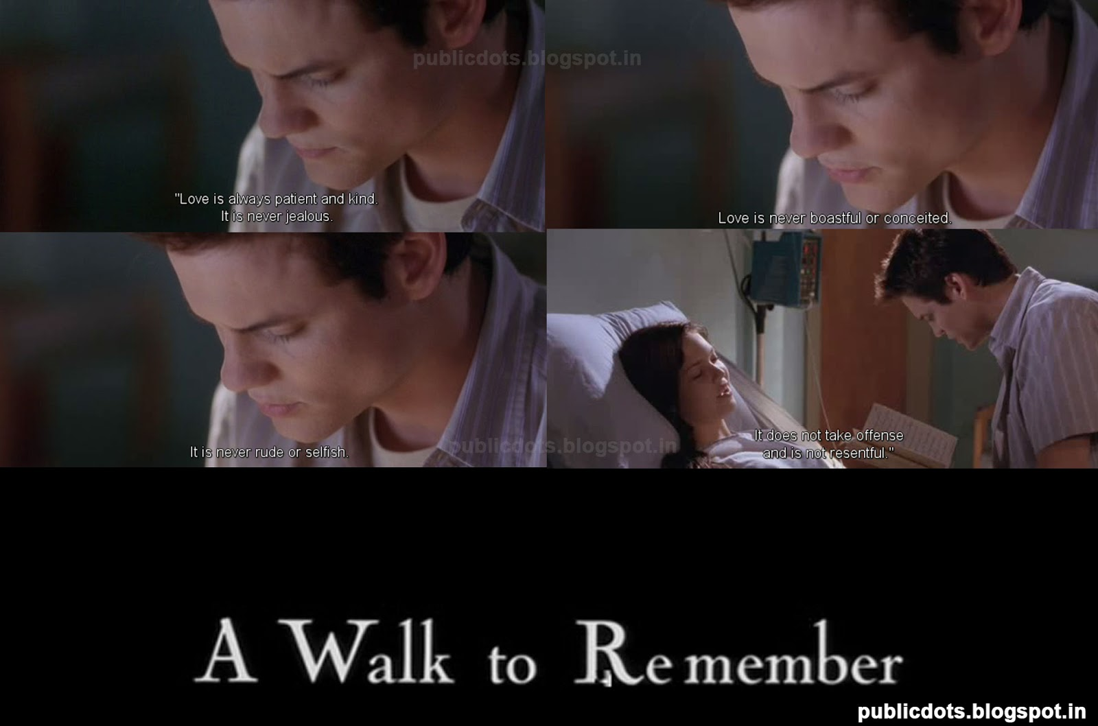 a walk to remember quotes love is always patient and kind - photo #3