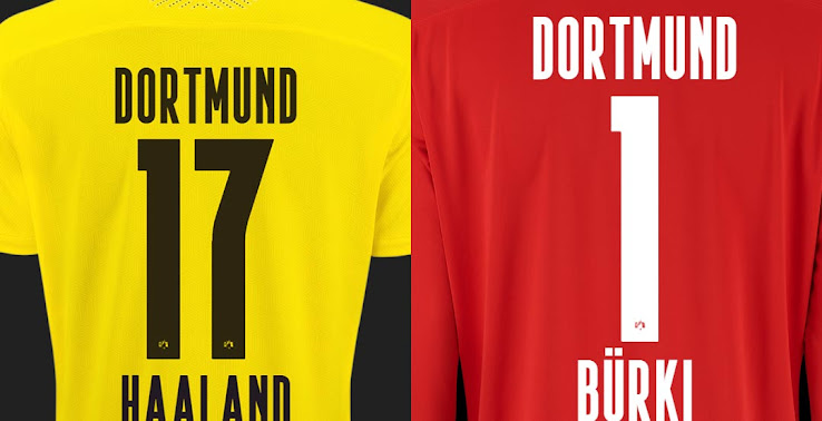 puma borussia dortmund 20 21 kit font released footy headlines puma borussia dortmund 20 21 kit font
