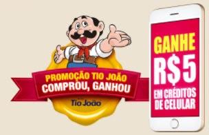 Cadastrar Promoção Arroz Tio João 2018 Comprou Ganhou Créditos Celular