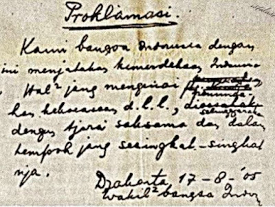 Perumusan Teks Proklamasi