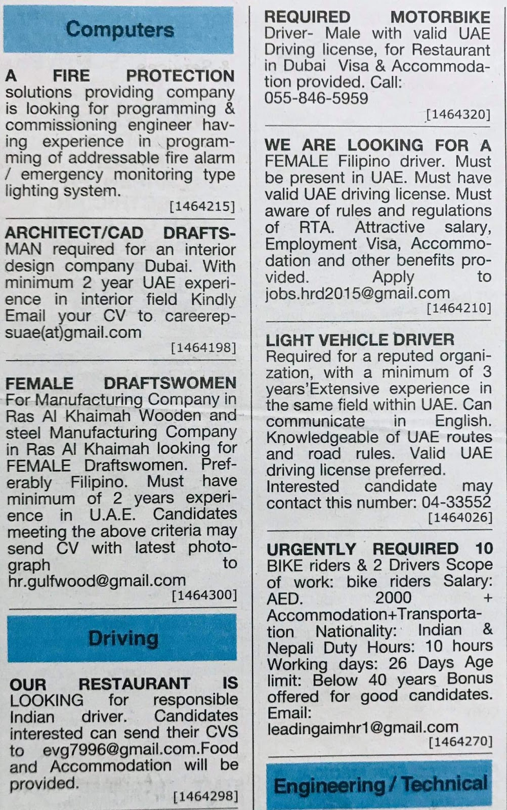 Need Staff for UAE Local Hiring Jobs Khaleej Times-UAE