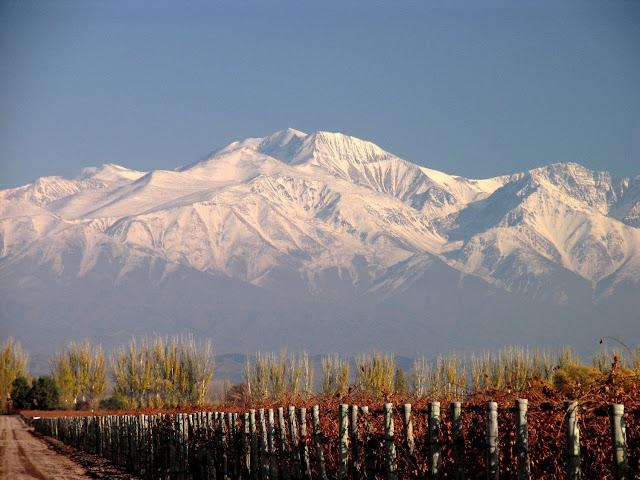 Paisagem de Mendoza durante o inverno
