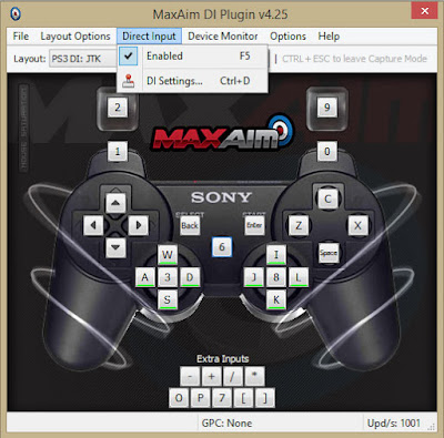 MaxAim DI: Playstation 3 settings via OneSwitch.org.uk