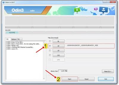 Proses load ROM samsung J3