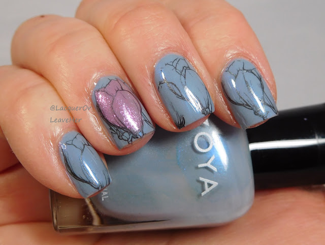 Dixie Plates Botanicals 01 over Zoya Darby