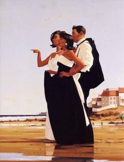 O Homem Perdido - Jack Vettriano e suas pinturas cheias de encontros íntimos