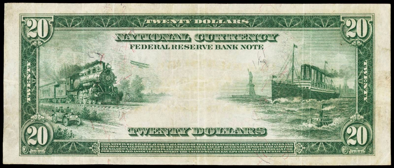 United States banknotes 20 Dollar Federal Reserve Bank Note