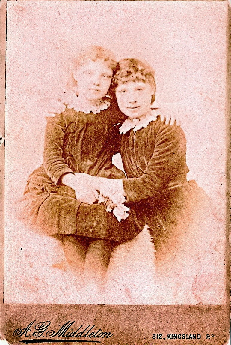 Photo of sisters Mary Ann Rose and Esther Rose as children