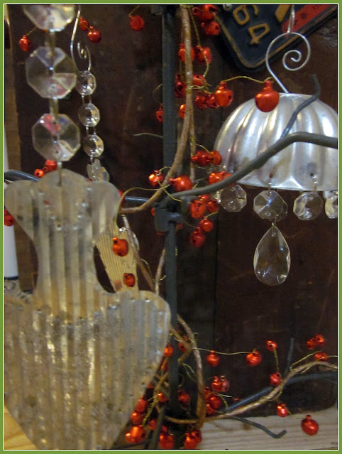 Assorted ornaments with chandelier gems