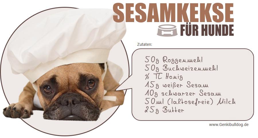 Hundekeksrezept Hundekekse selbst backen Rezept für Hundeleckerli mit Sesam
