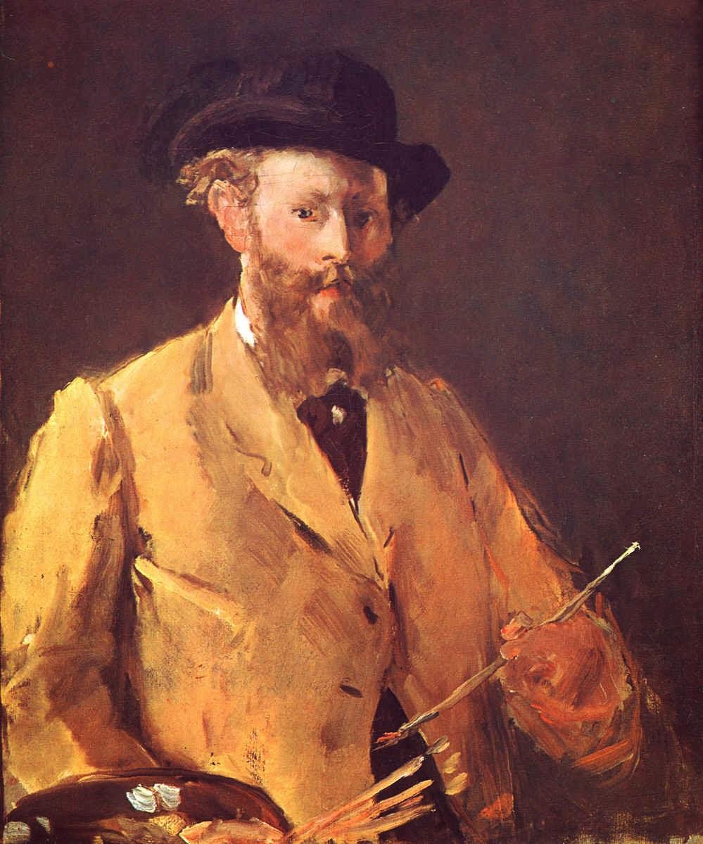 Autorretrato com Paleta - Pinturas impressionistas pintadas por Édouard Manet