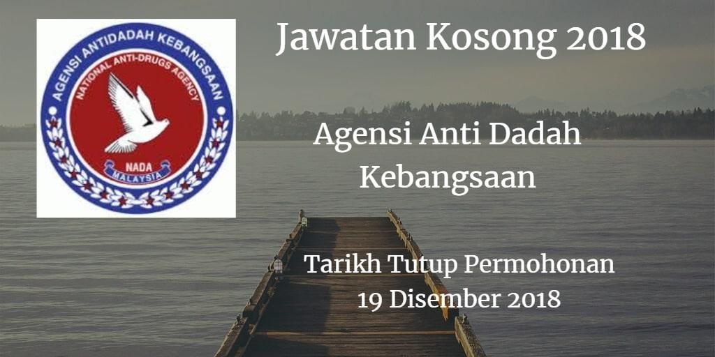 Jawatan Kosong AADK 19 Disember 2018