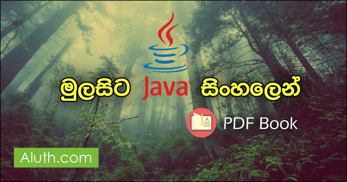 මෙම PDF පොත නිර්මාණය කර ඇත්තේ කොළඹ විශ්වවිද්යාලයේ ආචාර්ය කසුන් ද සොයිසා මහත්මයා විසිනුයි. පරිගණක මෘදුකාංග, වෙබ් අඩවි නිර්මාණයේදී  බහුලව බාවිතා වෙන පරිගණක භාෂාවක් ලෙස ජාවා (Java) හැදින්විය හැක. මූලික වශයෙන් පරිගණක ක්රමලේඛ පදනම් කරගෙන මෙම පොත නිර්මාණයකර ඇත. Programming ඉගෙන ගන්නවානම් මේ මූලික කරුණු දැන සිටිය යුතුවේ.