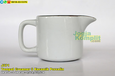 Tempat Creamer 3 Keramik Porselin