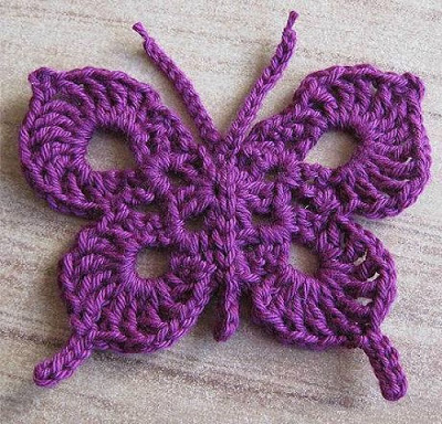 Crochet Stitches Step By Step : ... do Mini crochet in Butterflies step by step: - Crochet Free Patterns