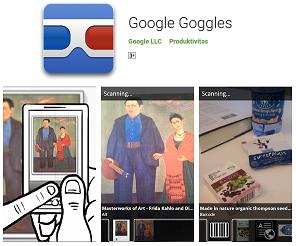 Aplikasi Tangkapan Gambar Cerdas Google Goggles