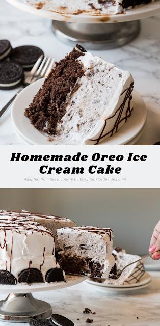 Homemade Oreo Ice Cream Cake