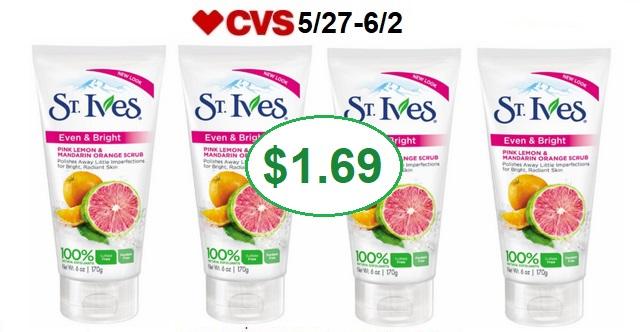 http://www.cvscouponers.com/2018/05/hot-st-ives-face-scrub-only-169-at-cvs.html