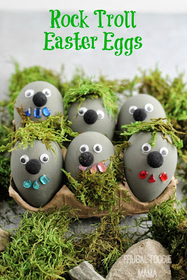 Rock Troll Easter Eggs by Frugal Foodie Mama